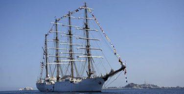 Buque escuela de la Marina de Guerra del Perú concluye su viaje de instrucción