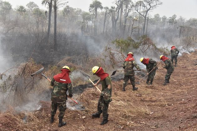 Bolivia Receives International Support to Fight Fires in Amazon