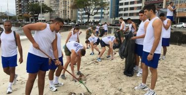Brazilian and US Navies Promote Ecological Beach Cleanup in Rio de Janeiro