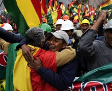 EE. UU. celebra la renuncia del presidente boliviano