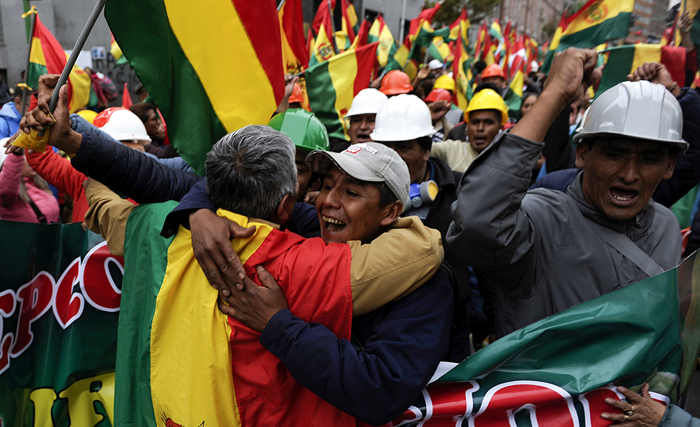 US Applauds Resignation of Bolivian President