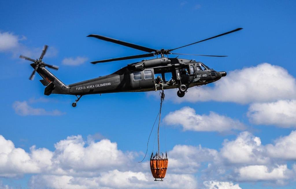 Colombian Air Force Crucial For Fire Control