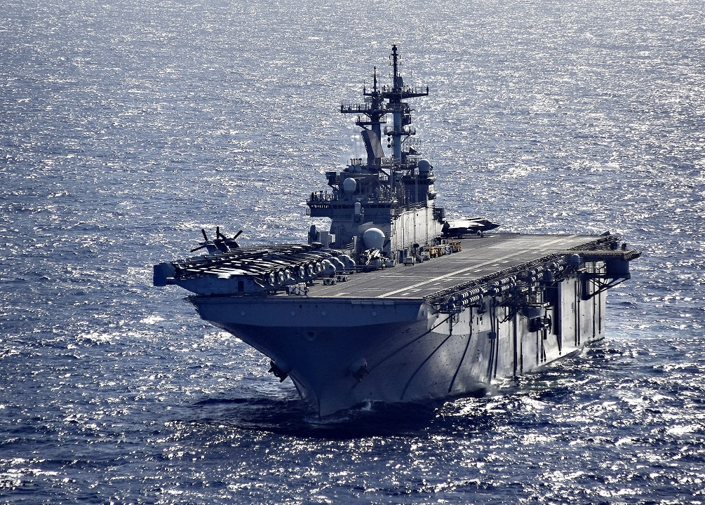 US Naval War College Event Held Aboard USS Wasp