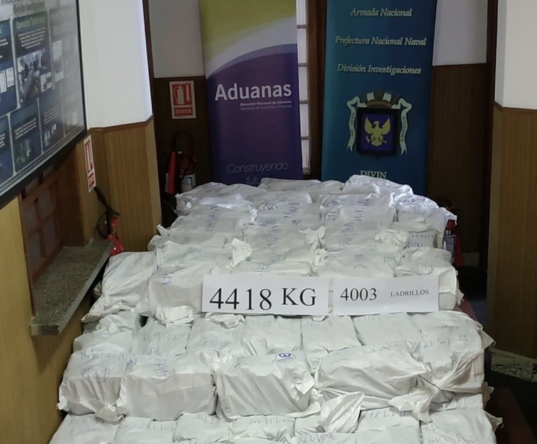 Uruguay Seizes Largest Cocaine Shipment Ever