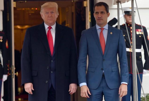 Presidente interino da Venezuela visita a Trump na Casa Branca
