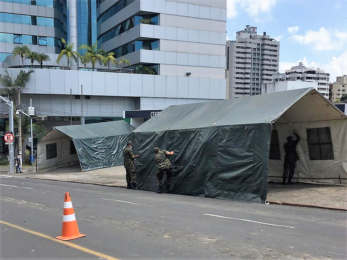 Brazilian Army, Air Force, and Navy Assist in Combating COVID-19