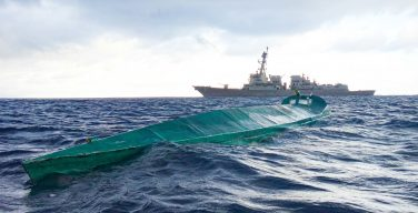 USS Pinckney Takes Down Drug Vessel, Seizes 70 Bales of Cocaine