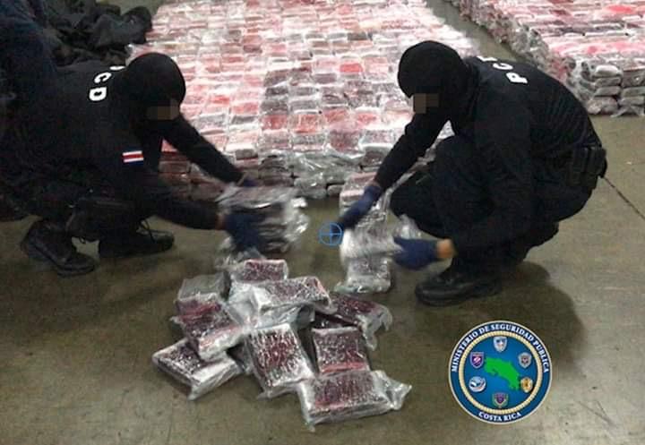 Recorde de confiscos de cocaína na Costa Rica