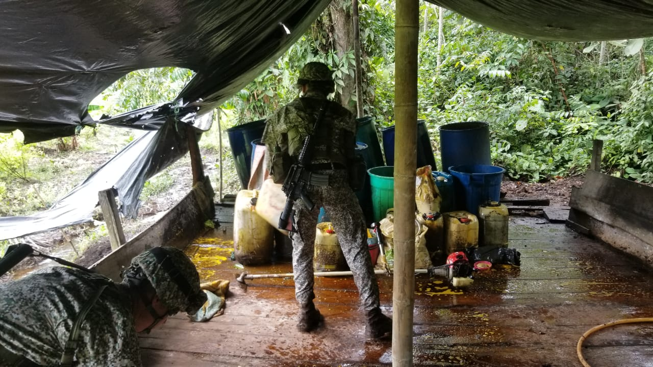 Colombian Forces Destroy Massive Cocaine Laboratory