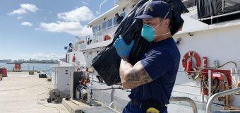 Coast Guard Offloads $5.6 Million in Seized Cocaine