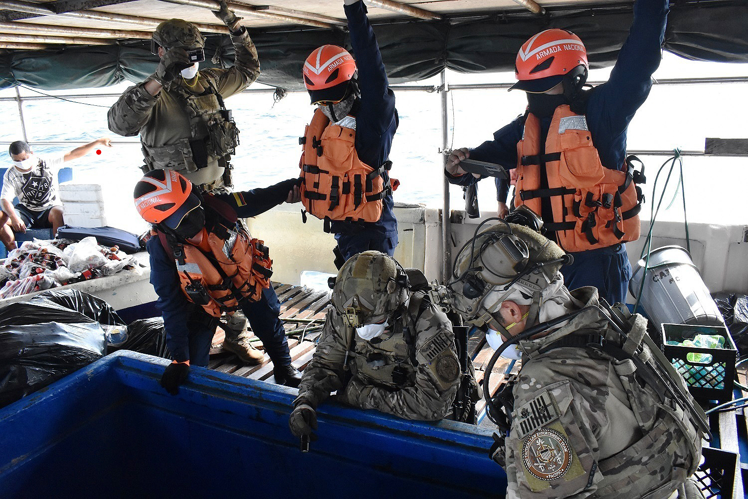 Coast Guard, Colombia Navy Interdict 7.5 Metric Tons of Suspected Drugs In Western Caribbean Sea