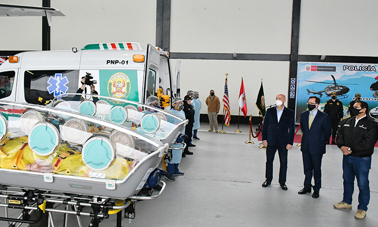 US Government Donates Modern Medical Isolation Units to Transfer COVID Patients