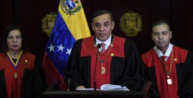 EE. UU. ofrece recompensa de USD 5 millones, por captura del presidente del máximo organismo judicial venezolano