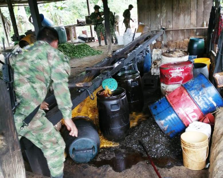Colombia Reports Destruction of Drug Labs and Capture of Criminals