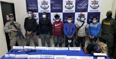 Armada de Colombia captura a 6 integrantes del Clan del Golfo