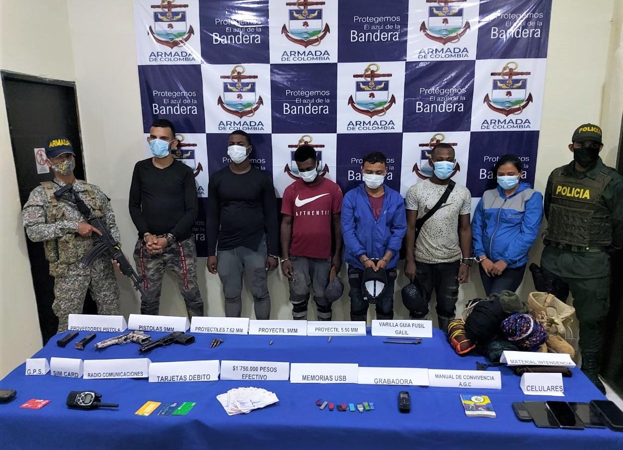 Colombian Navy Captures 6 Clan del Golfo Members