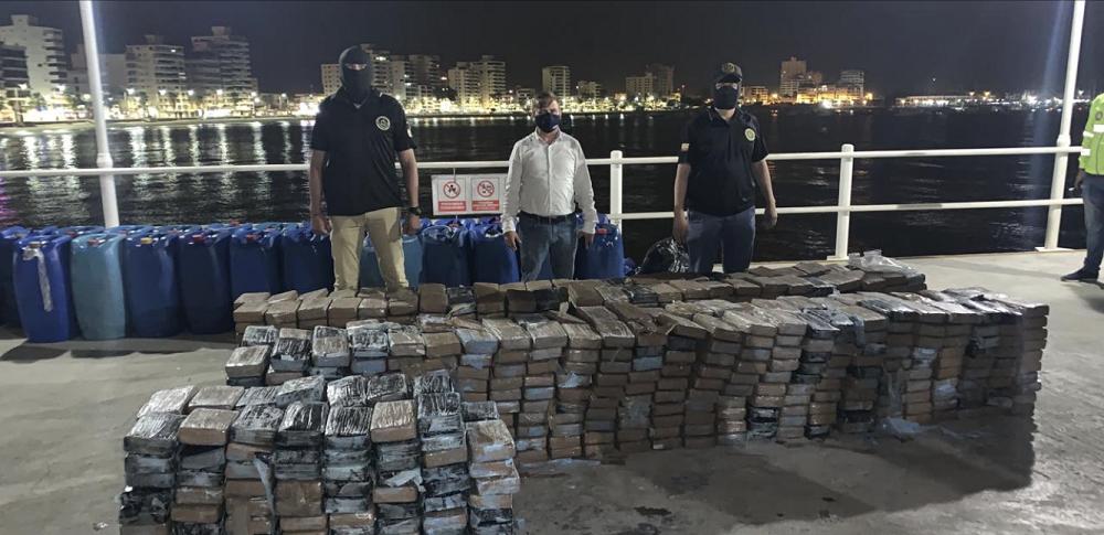 Fuerzas de seguridad del Ecuador incautan casi 6,5 toneladas de drogas