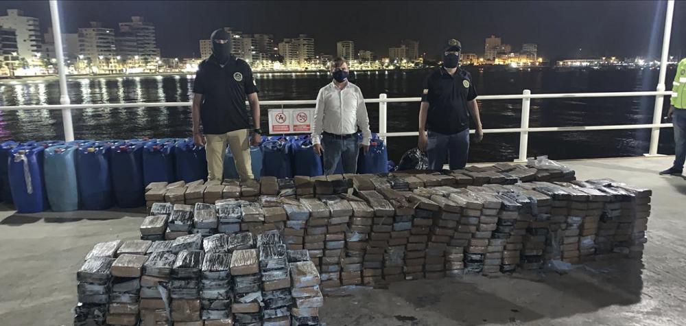 Forças de segurança do Equador apreendem quase 6,5 toneladas de drogas