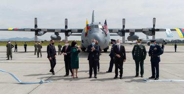 Colombian Air Force Receives First of 3 Hercules Aircraft Donated by US