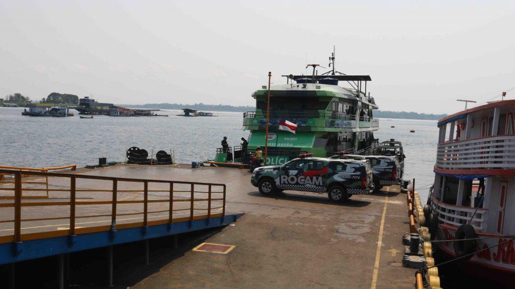 Nueva base fluvial y agentes de la Fuerza Nacional de Brasil refuerzan la lucha contra el delito en Amazonas