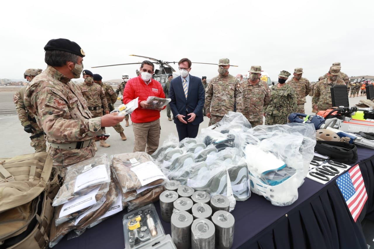 US Donates Search and Rescue Equipment to Peruvian Air Force