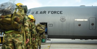 US Air Force Transports Colombian Troops Supporting Hurricane Relief