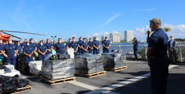 Working with International Partners, US Coast Guard Offloads More than $411 Million Worth of Drugs