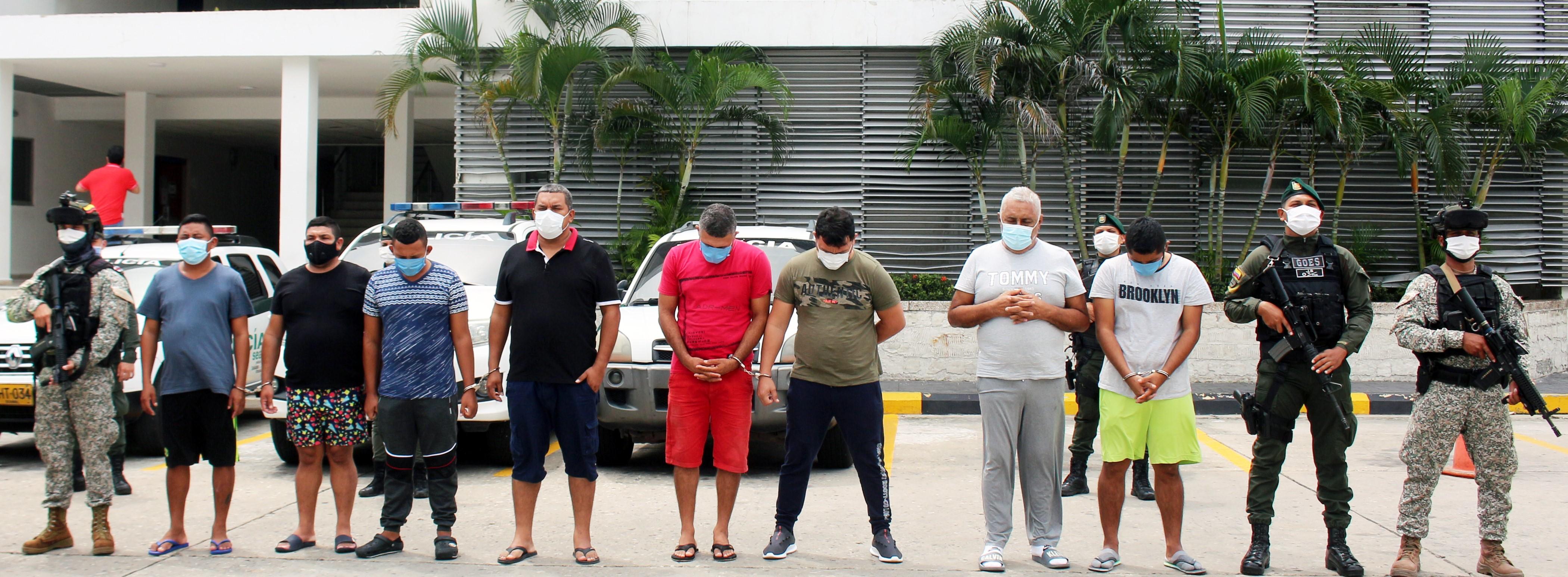 Armada de Colombia y Policía Nacional desarticulan banda del narcotráfico en el Caribe