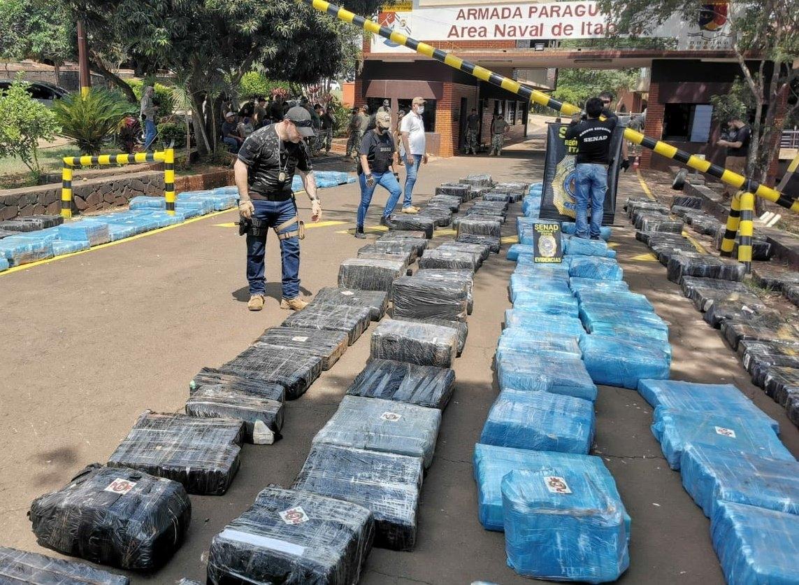 Paraguai: SENAD apreende mais de 10 toneladas de maconha que seriam enviadas à Argentina