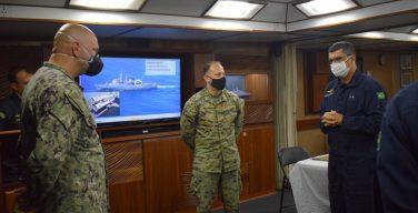 US Navy, Marine Corps Officers Embark on Brazilian Ship