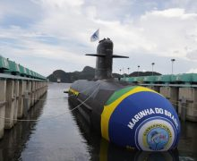 Brazilian Navy Launches New Submarine at Sea