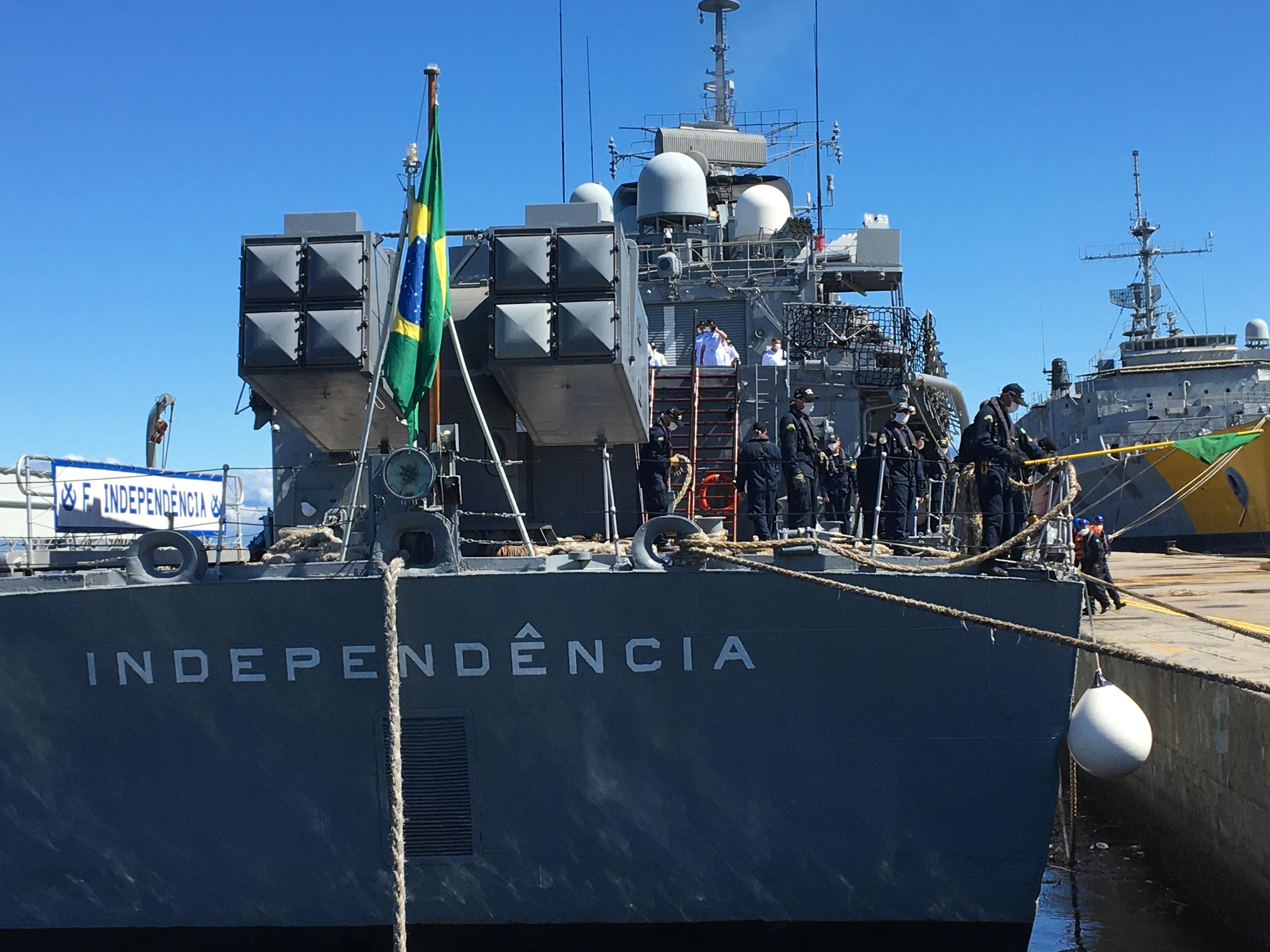 Regresa la última fragata brasileña, luego de nueve años de misión de paz en el Líbano