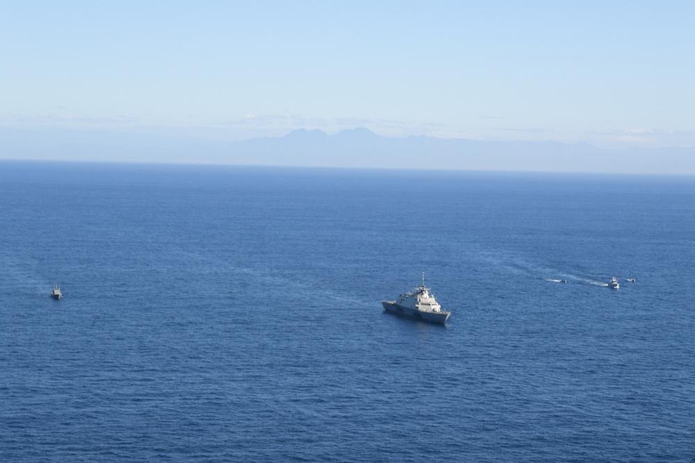 USS Freedom completa ejercicio trilateral PASSEX con El Salvador y Guatemala