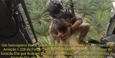 JTF-Bravo resgata vítimas do Furacão Eta