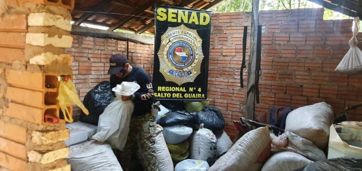 Forças de segurança do Paraguai apreendem mais de 41 toneladas de maconha