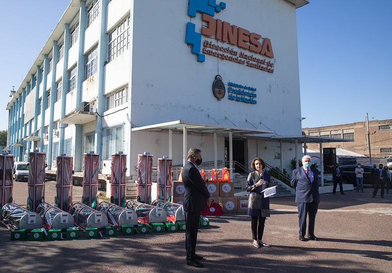 US Donates Isolation Capsules for COVID-19 Patients in Argentina