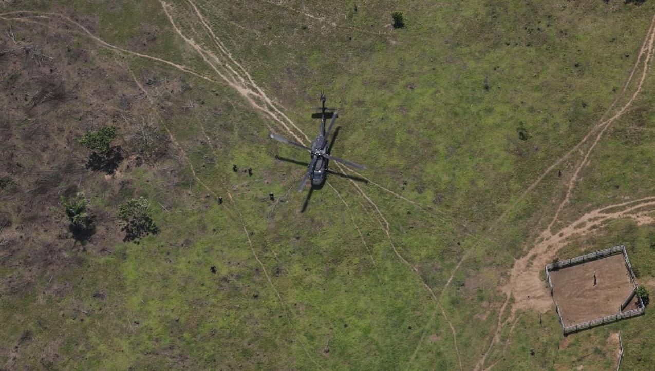 Forças Militares da Colômbia combatem desmatamento