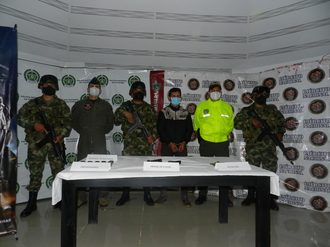 Colombia captura a máximo cabecilla de grupo delincuencial