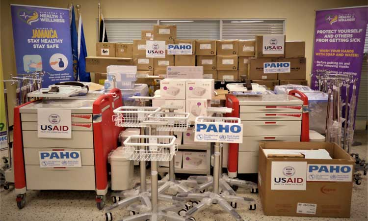The United States Hands Over $88,735 Worth of Critical Hospital Emergency Equipment to the Government of Jamaica in Response to COVID-19