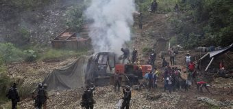 Colombia Police, Military Raid Illegal Gold Mining Operation