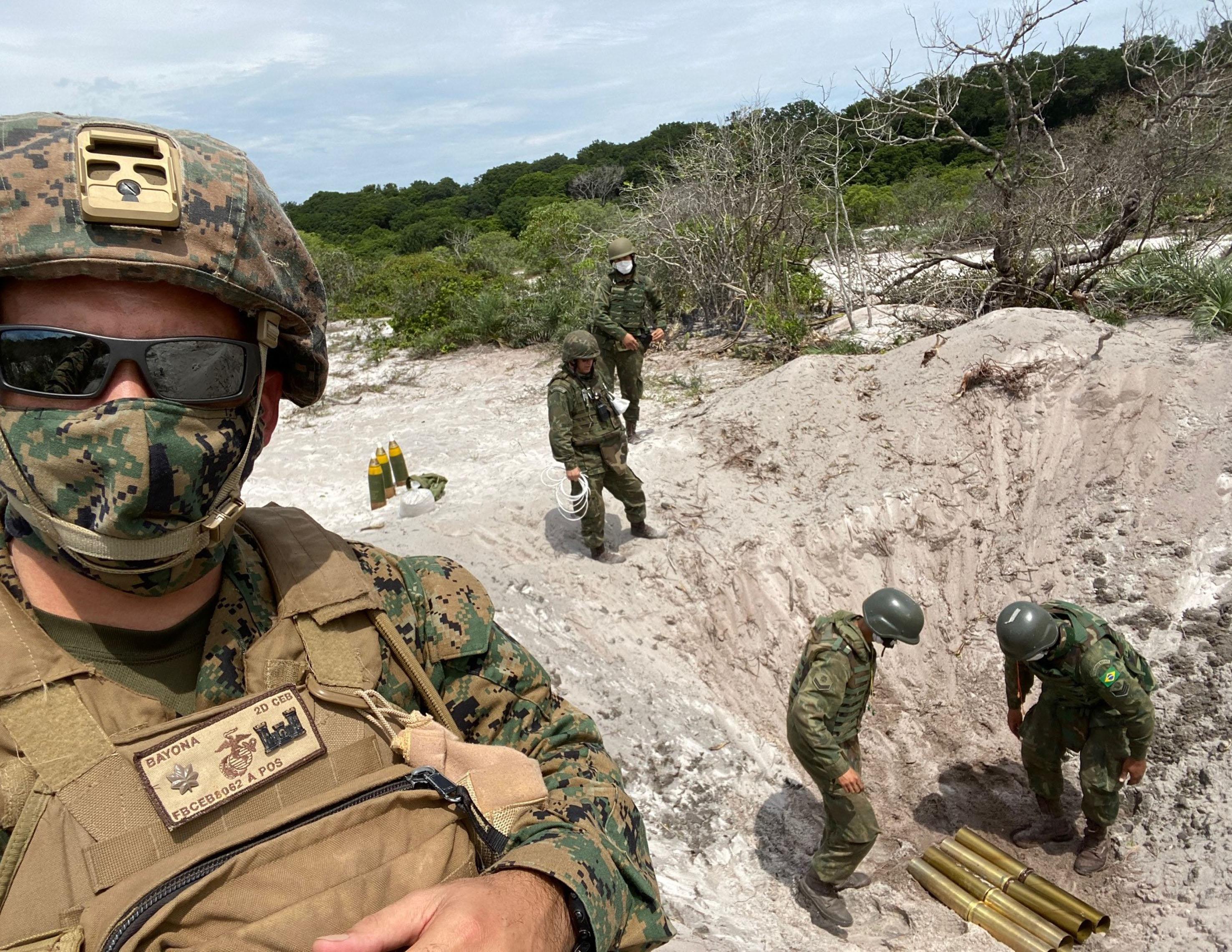 Infante de Marina de los EE. UU. participa en intercambio en Brasil