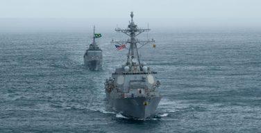 Comandante de la Cuarta Flota conduce Diálogos Marítimos de Estado Mayor con la Marina de Brasil