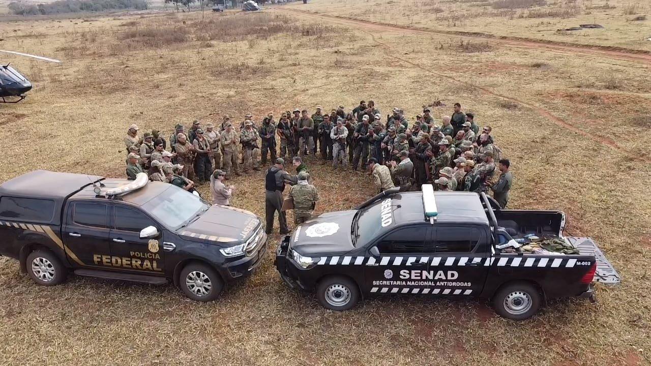 Brasil e Paraguai eliminam 48 toneladas de maconha na Operação Nova Aliança XXVI