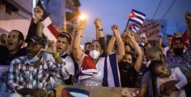 Apoyo internacional a las manifestaciones en Cuba