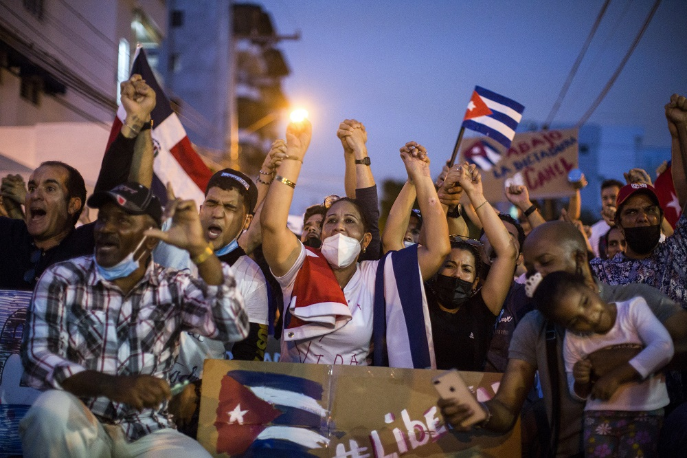 Global Support for Cuba Demonstrations