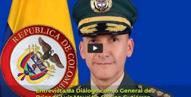 General de Brigada do Exército da Colômbia Luis Mauricio Ospina Gutiérrez, diretor da Escola Superior de Guerra (ESDEG) General Rafael Reyes Prieto