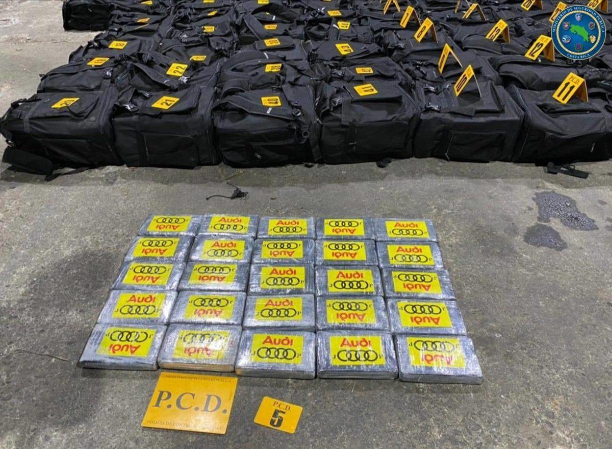 Costa Rica: segunda maior apreensão de cocaína da sua história