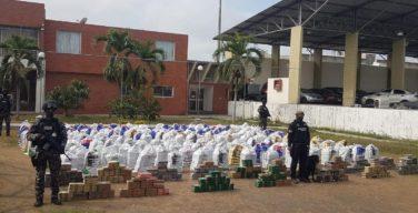Equador apreende quase 10 toneladas de cocaína