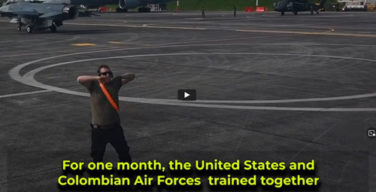 During one month, the United States and Colombian air forces trained together in the Relámpago VI exercise in Rionegro, Colombia.