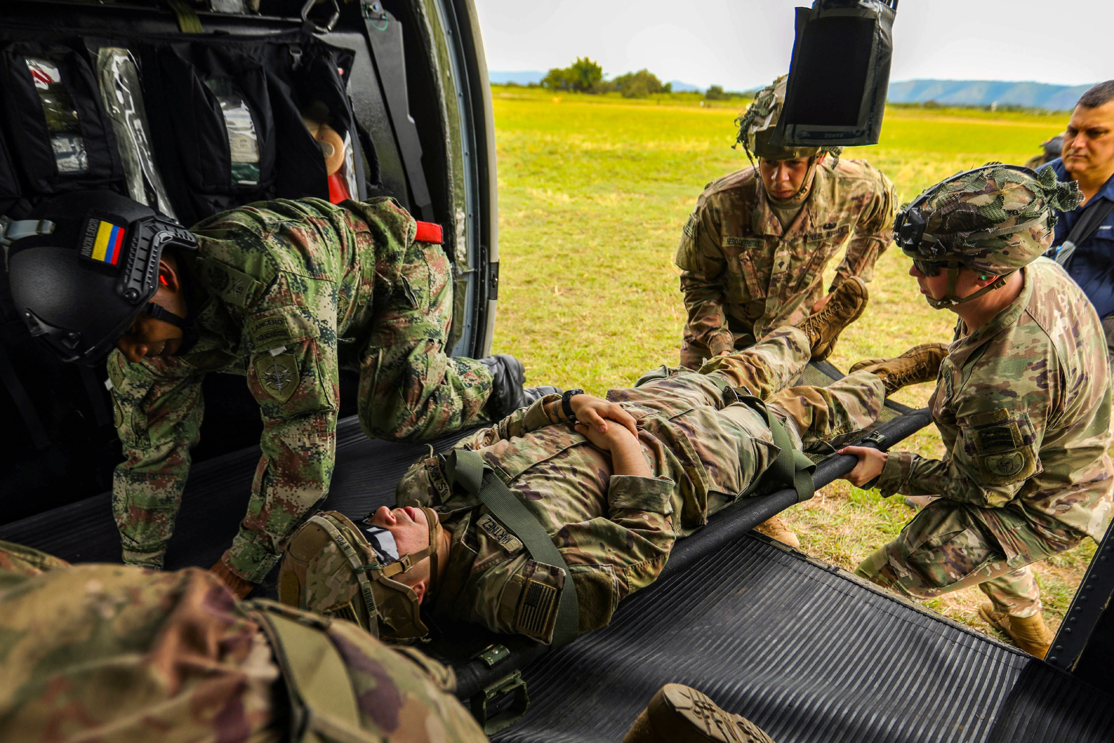 US Army South Develops Medical Evacuation Rehearsals with Colombian Combat Medics
